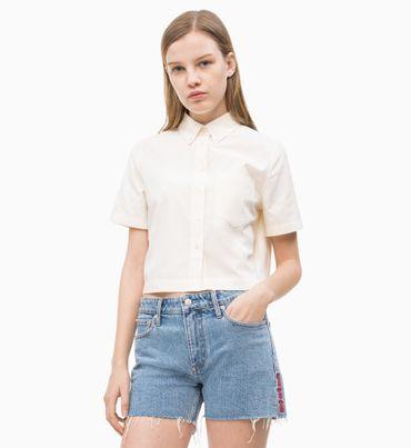Camisa-Corta-de-Algodon-Oxford
