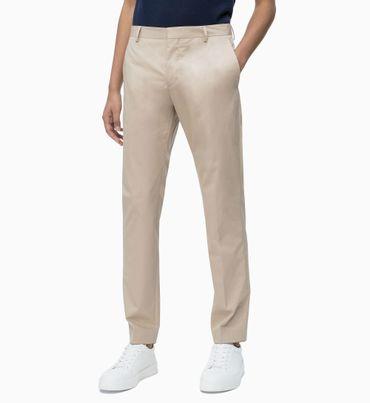 Pantalones-Ajustados-de-Sarga-de-Algodon