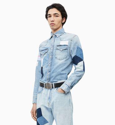 Camisa-Denim-Western-con-Parches