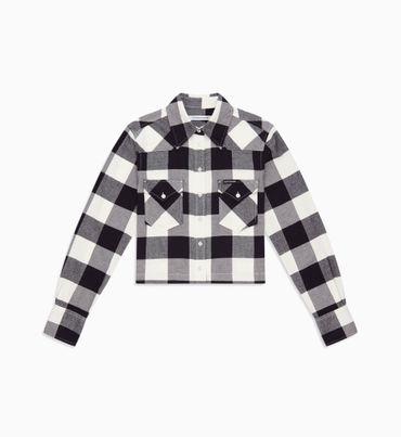Camisa-Cropped-De-Cuadros---Calvin-Klein