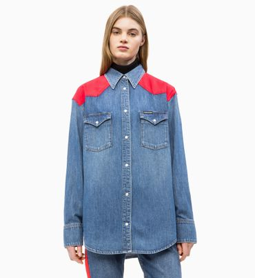 Camisa-Denim-Western-Oversized