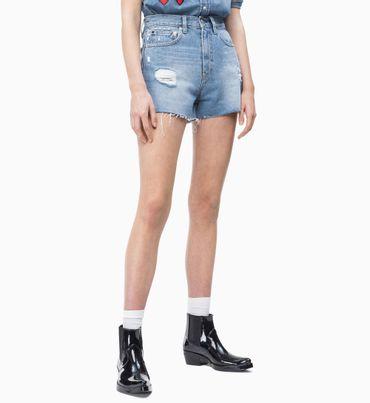 Shorts-de-Mezclilla-de-Cintura-Alta
