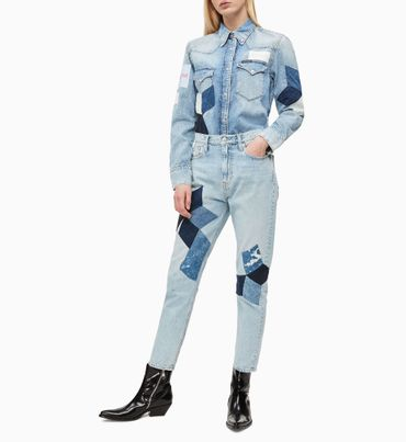 Camisa-Denim-Western-Con-Parches-Calvin-Klein