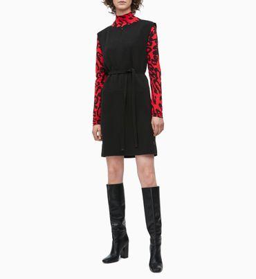 Vestido-De-Crepe-Con-Cinturon-Calvin-Klein