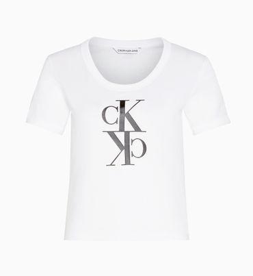 Playera-cropped-de-algodon-organico-con-logo-Calvin-Klein