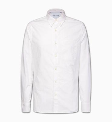 Camisa-slim-de-algodon-Oxford-Calvin-Klein