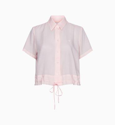Camisa-Corta-con-Jareta-y-Logo-Bordado-Calvin-Klein