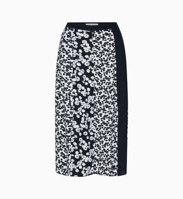 Falda-larga-con-estampado-floral-Calvin-Klein