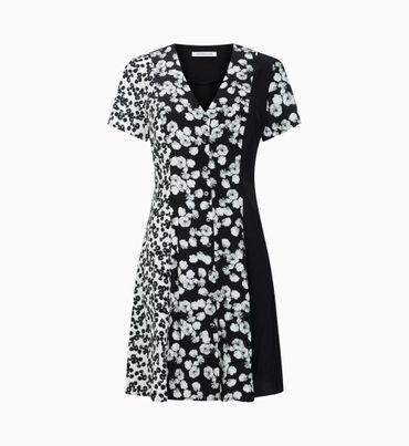 Vestido-corto-con-paneles-florales-Calvin-Klein