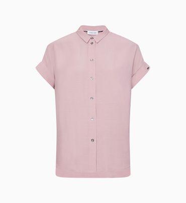 Camisa-de-crepe-de-manga-corta-Calvin-Klein