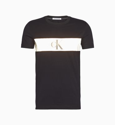 Playera-slim-con-raya-reflectante-y-logo-Calvin-Klein
