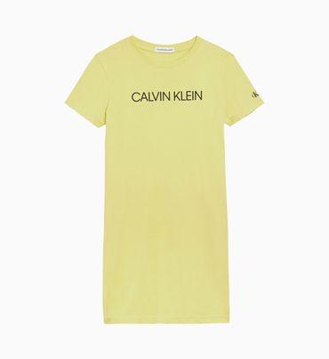 Vestido-Camisero-De-Algodon-Organico-Con-Logo-Y-Estilo-Regular-Calvin-Klein