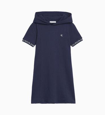 Vestido-Camisero-Evase-De-Punto-De-Intarsia-Con-Capucha-Calvin-Klein