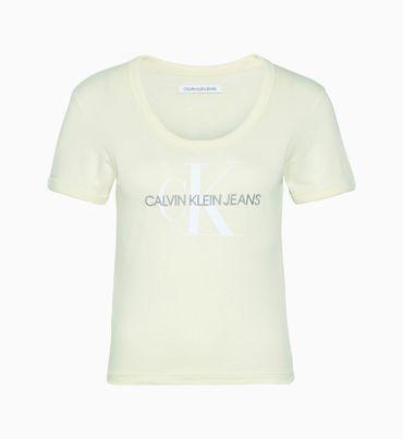 Playera-Entallada-De-Algodon-Organico-Con-Logo-Calvin-Klein
