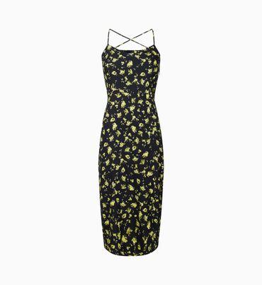 Vestido-Midi-Floral-De-Espalda-Cruzada-Calvin-Klein