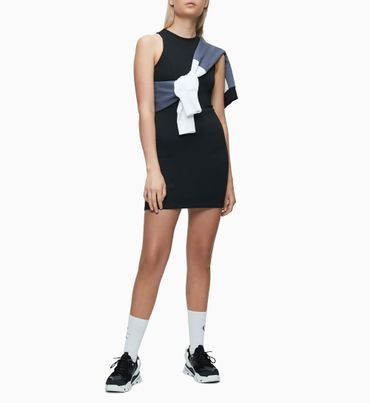 Vestido-Ajustado-De-Punto-Milano-Calvin-Klein