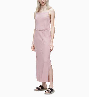 Vestido-Largo-De-Sarga-Suave-Calvin-Klein