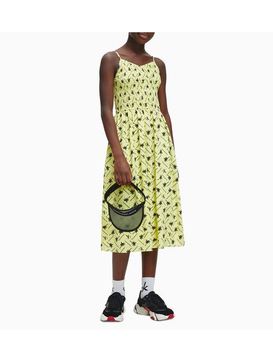 Vestido-Midi-Estampado-Con-Corte-Evase-Y-Logo-Calvin-Klein