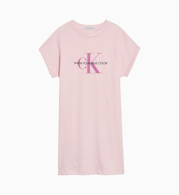 Vestido-Camisero-de-Algodon-Organico-con-Teñido-Natural-y-Estilo-Regular-Calvin-Klein