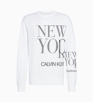 Sudadera-de-Algodon-Organico-con-Logo-de-Nueva-york-Calvin-Klein