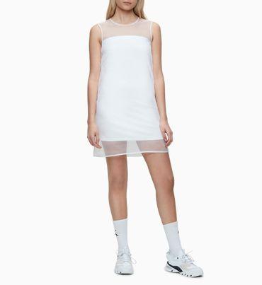 Vestido-Corto-de-Dos-Capas-de-Organza-Calvin-Klein