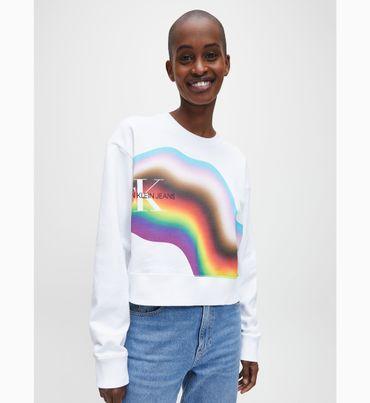 Sudadera-cropped-de-algodon-organico-con-arcoiris---The-Pride-Edit-Calvin-Klein