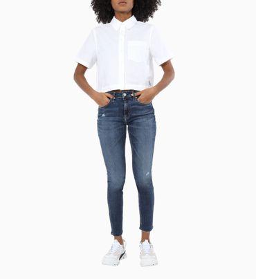 Camisa-Cropped-con-Bolsillo-Calvin-Klein