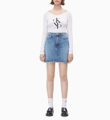Minifalda-Denim-de-Tiro-Alto-Calvin-Klein