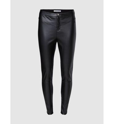 Pantalones-Elasticos-De-Cuero-Imitacion-Calvin-Klein