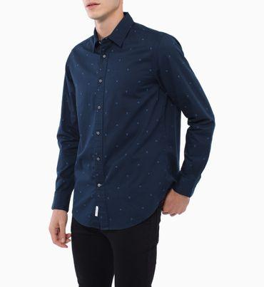 Camisa-Regular-Fit-Monograma-Calvin-Klein