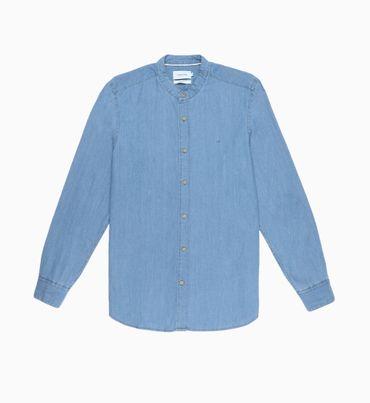 Camisa-Azul-Cuello-Standard-Calvin-Klein