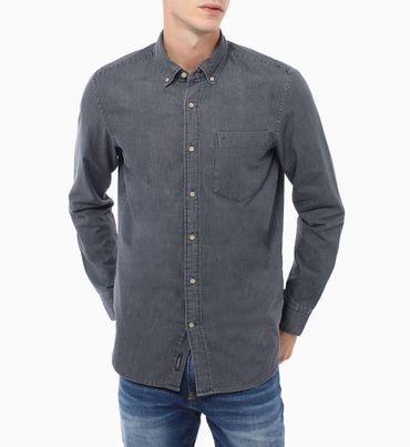 Camisa-Azul-Con-Botones-Calvin-Klein