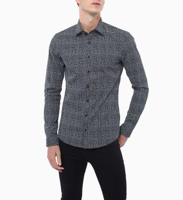 Camisa-Estampada-Extra-Slim--Stretch-Calvin-Klein