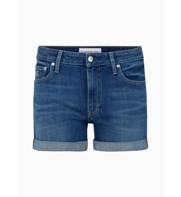 Shorts-denim-de-tiro-medio-Calvin-Klein