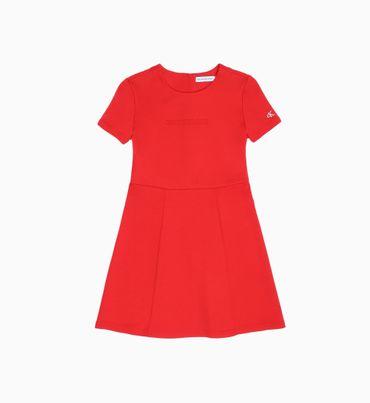 Vestido-Cuello-Redondo-Manga-Corta-Con-Logo-Calvin-Klein