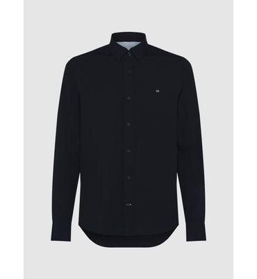 Camisa-Slim-De-Popelin-Elastico-Calvin-Klein