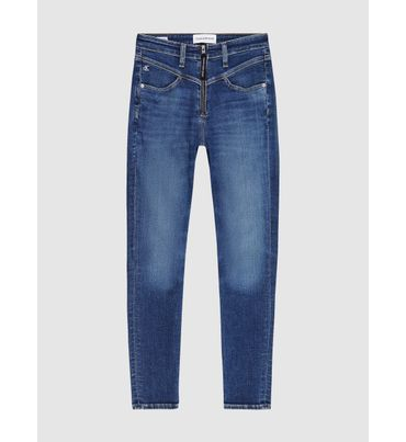 Jeans-Tobilleros-Skinny-De-Tiro-Alto-Calvin-Klein