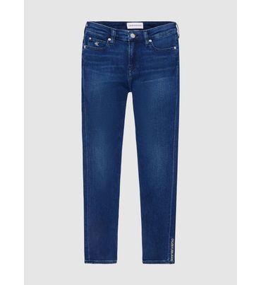 Jeans-Tobilleros-Skinny-De-Tiro-Medio-Calvin-Klein