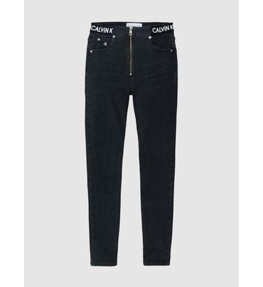 Jeans-Tobilleros-Super-Skinny-De-Tiro-Alto-Calvin-Klein
