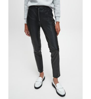 Pantalones-Skinny-De-Piel-Sintetica-Calvin-Klein