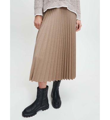 Falda-Midi-Plisada-De-Franela-Calvin-Klein