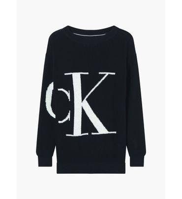 Sueter-de-algodon-con-logo-relaxed-Calvin-Klein