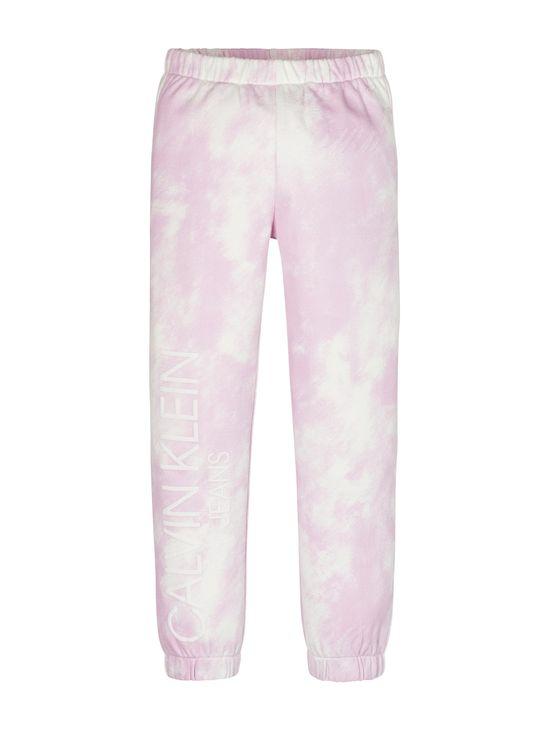 Pantalon-de-chandal-de-algodon-organico-con-estampado-de-nube-para-niña-Calvin-Klein