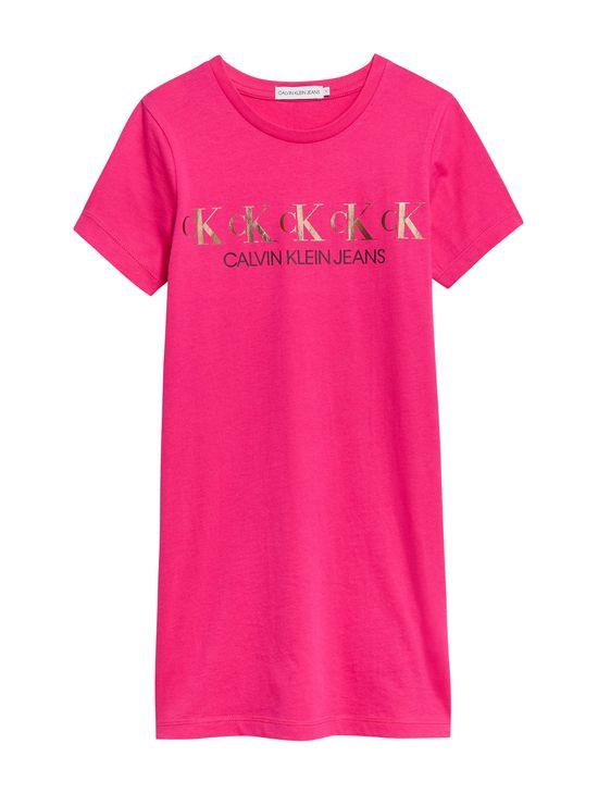 Vestido-camisero-de-algodon-organico-con-logo-para-niña-Calvin-Klein
