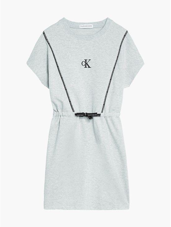 Vestido-camisero-con-cordon-para-niña-Calvin-Klein
