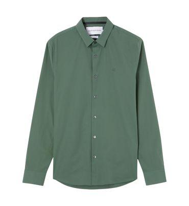 Camisa-slim-de-algodon-elastico-Calvin-Klein