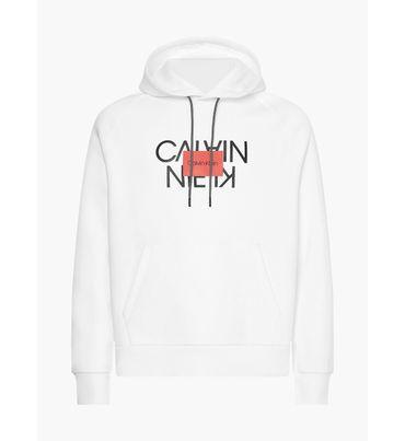 Sudadera-de-algodon-organico-con-gorro-y-logo-Calvin-Klein