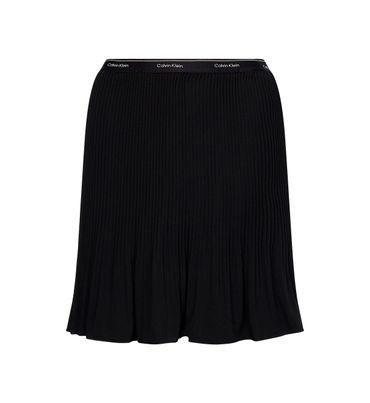 Minifalda-plisada-de-crepe-Calvin-Klein