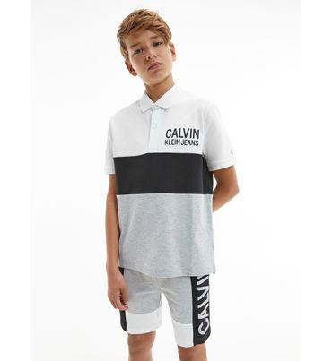 Polo-color-block-para-niño-Calvin-Klein