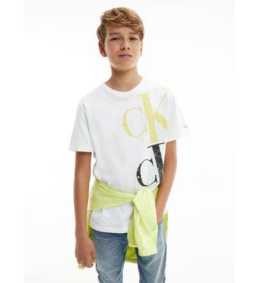 Playera-de-algodon-organico-con-logo-para-niño-Calvin-Klein